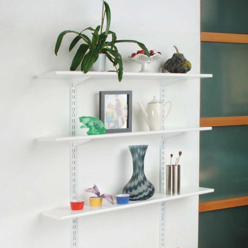 cremagliera doppia e mensola. Black Bedroom Furniture Sets. Home Design Ideas